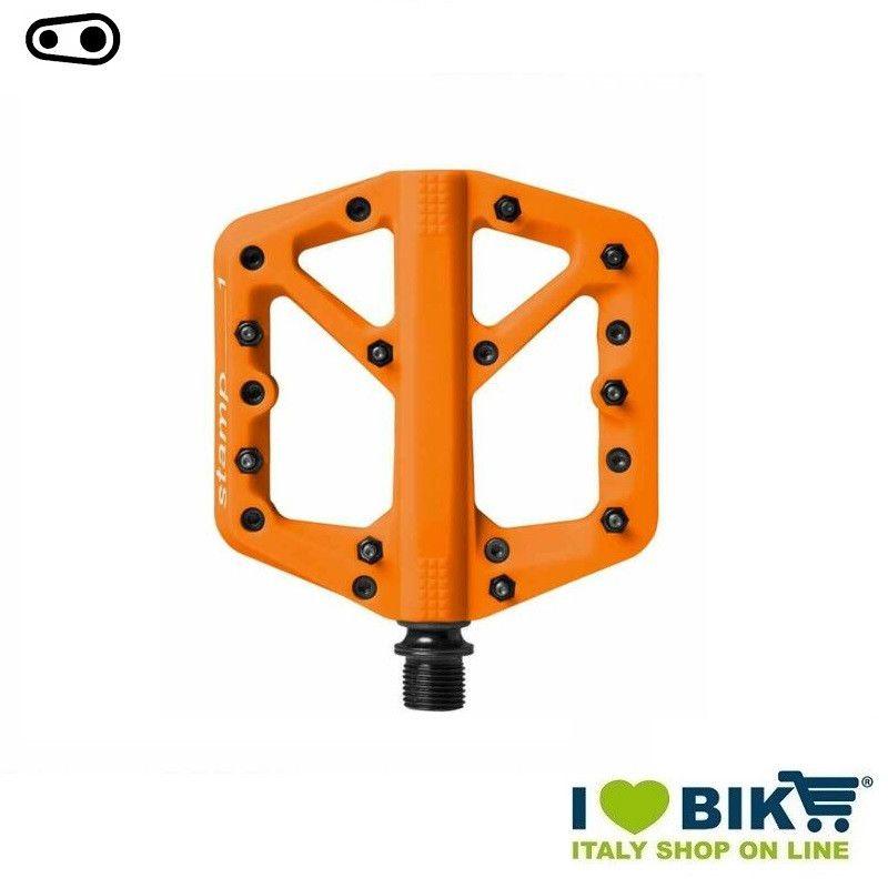 Pedali freeride DH Enduro Cranckbrothers STAMP 1 small arancio  - 1