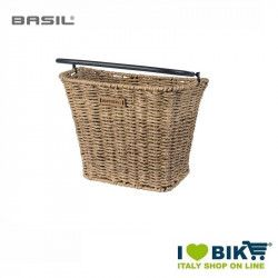 Basket bicycle front Basil Bremen in ratan