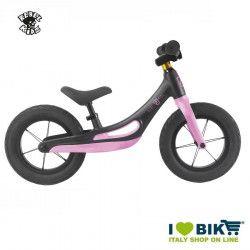 Bici senza pedali Rebel Kidz lega di magnesio nero/rosa