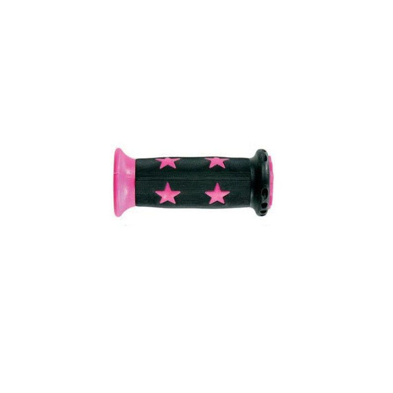 Pair knobs Bimbo 22 mm Fuchsia Star  - 1