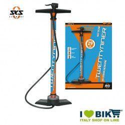 Workshop pump SKS Twentyniner blue/orange DV/AV/SV