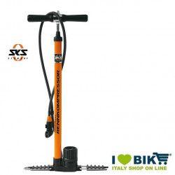 Rennkompressor SKS metal floor pump orange Multi Valve