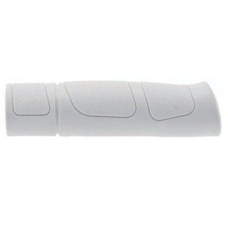 Pair Trekking rubber grips white