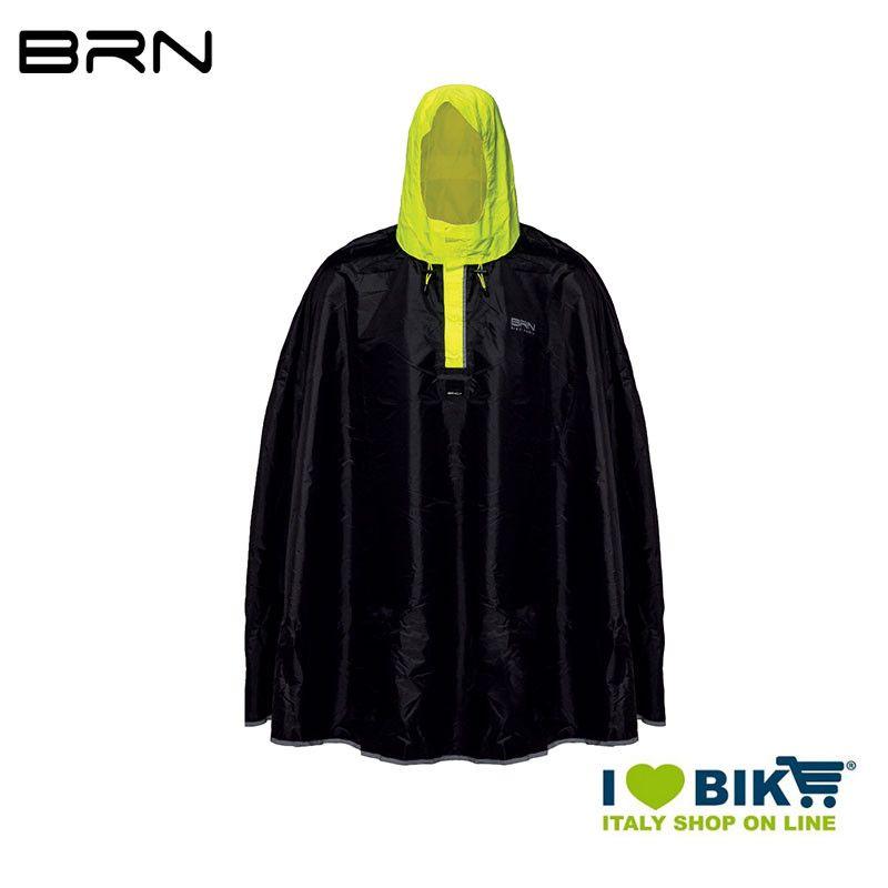 BRN Rain Poncho for adult black yellow fluo BRN - 1