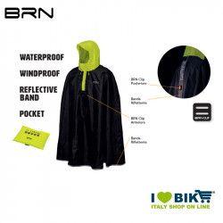 BRN Rain Poncho for adult black yellow fluo BRN - 4