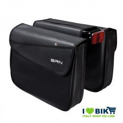 Leather-like saddlebags honey bike accessories and spare parts bike shop on line made in italy