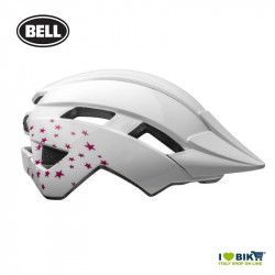 Bell kid's helmet Sidetrack 2 model Stars Colour gloss White