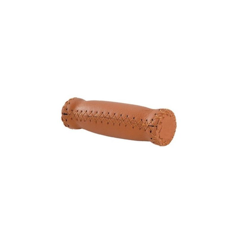Couple knobs in leather Classic honey  - 1