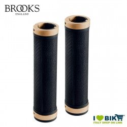 Manopole per bicicletta vintage Brooks Cambium Nero Copper 130 millimetri nero copper online shop