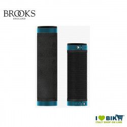 Brooks Cambium grips for 100/130 mm gearboxes Black  Blu Octanium Brooks - 1