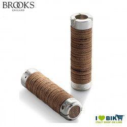 Brooks Plump Leather Brown Grips 130 MM Brooks - 1