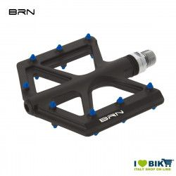 Pair of BRN Carbon Kite pedals Black Pin Blue