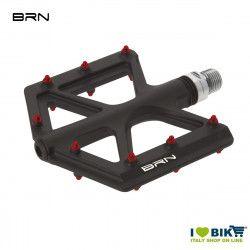 Coppia pedali BRN Carbon Kite Neri Pin Rossi BRN - 1