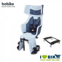 Rear bicycle seat BOBIKE EXCLUSIVE TOUR PLUS light blue denim colour