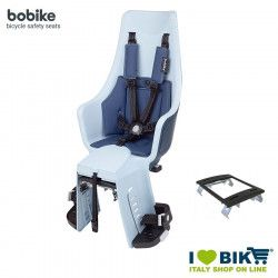 Rear bicycle seat BOBIKE EXCLUSIVE MAXI PLUS Light Blue Denim