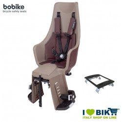 Rear bicycle seat BOBIKE EXCLUSIVE MAXI PLUS Caramel Brown