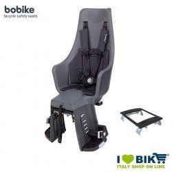 Rear bicycle seat BOBIKE EXCLUSIVE MAXI PLUS Grey