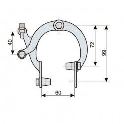 Pair brakes iron Ballon