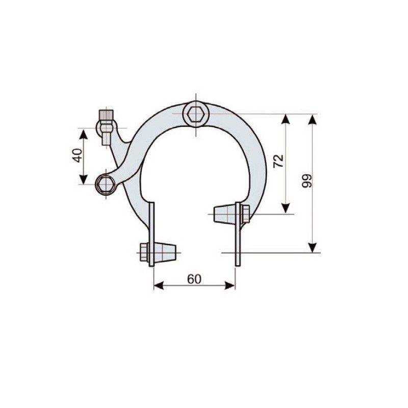 Pair brakes iron Ballon  - 1