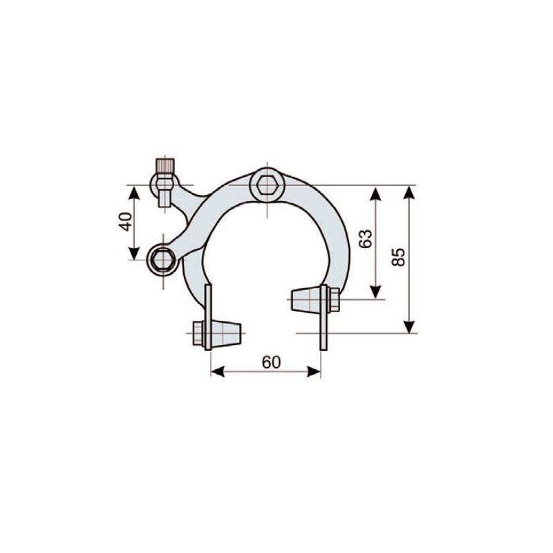 Pair brakes iron Holland  - 1