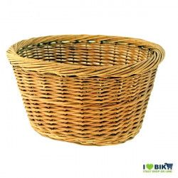 Oval bicycle basket in wicker natural colour