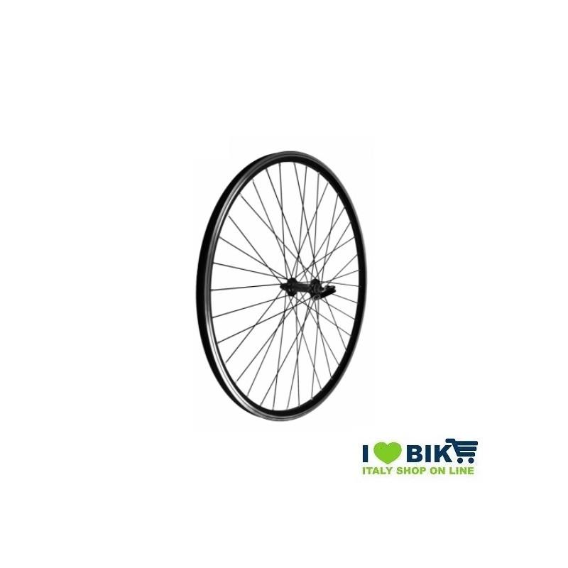 Ruota 28 City-Bike anteriore Nera Mozzo su cuscinetti  - 1
