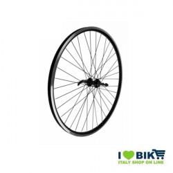 Ruota 28 City-Bike posteriore a filetto Nera Mozzo su cuscinetti  - 1