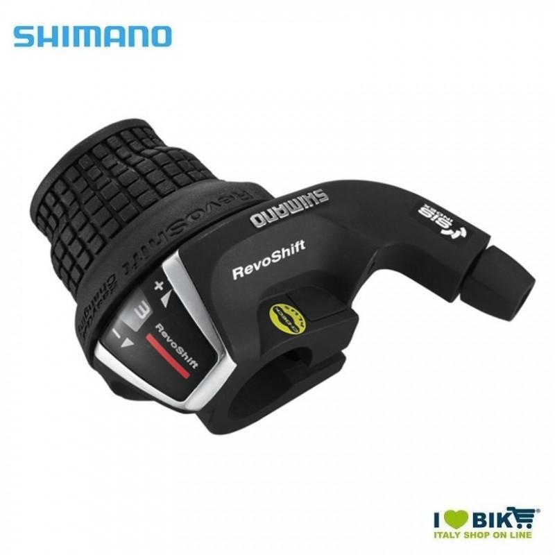 Comando Cambio revoshift Shimano SL-RS35 sx 3 velocità nera Shimano - 1