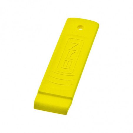 LE03G Levagomma in plastica BRN giallo fluo