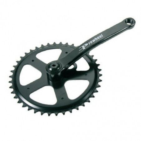 Crank iron framework with 42 teeth black (R + L)