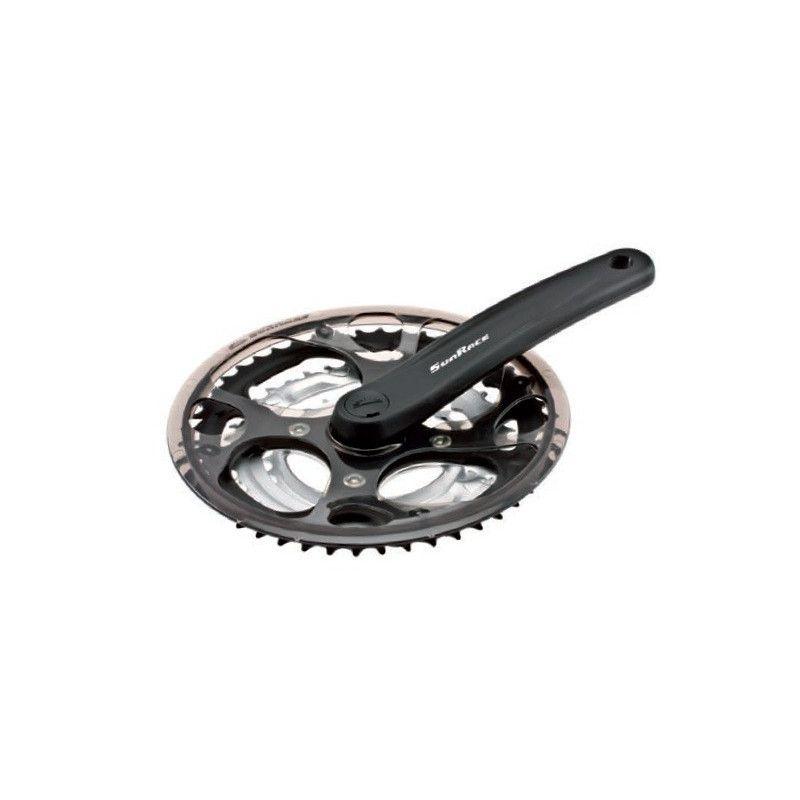 Aluminum Crank City-Bike 28-38-48 Black/Silver (R + L)  - 1