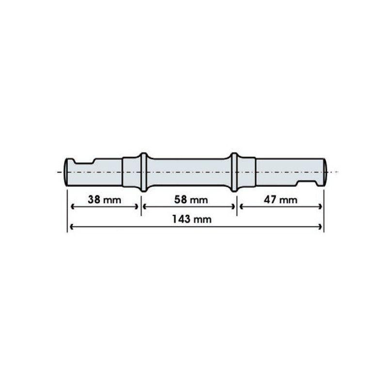 Perno movimento centrale chiavella tipo medio  - 1