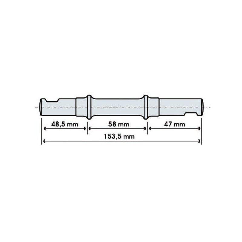 pin type bracket chiavella long  - 1