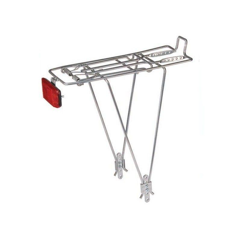 Rear rack adjustable in iron silver  - 1