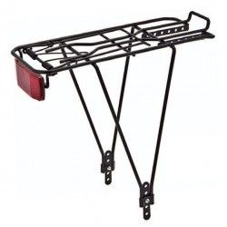 Rear rack adjustable in iron black