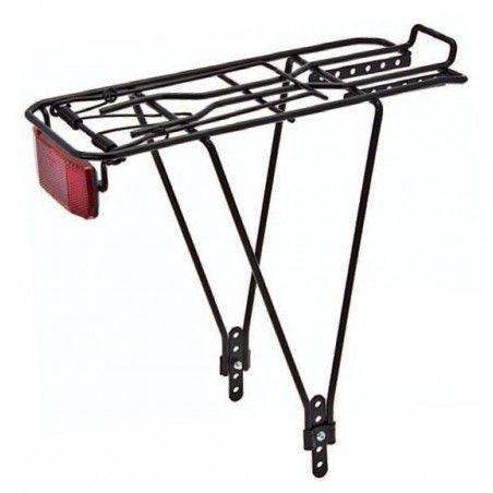 Rear rack adjustable in iron black