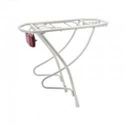 Rear rack in steel City White 28