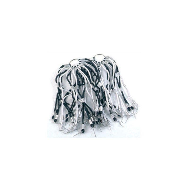 Network in elastic white / black stripes  - 1