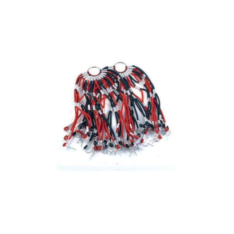 Net in elastic red / black stripes  - 1