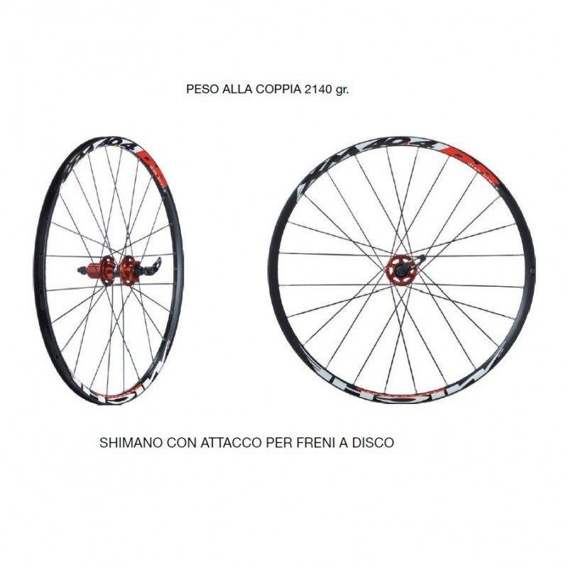Mtb Wheelset Miche XM 40.4 DB for Shimano 8-9 speed.  - 1