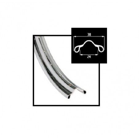 Circle R chrome-plated steel 26 1/2