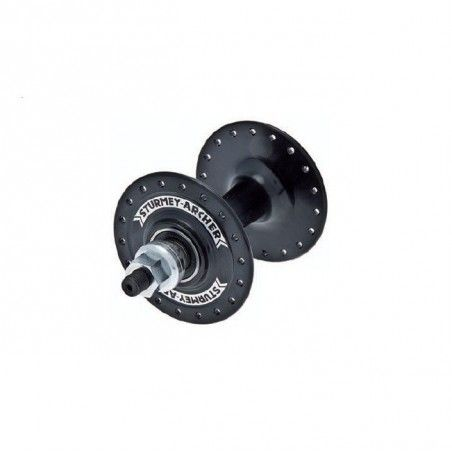 Track Hub from aluminum bearing black front 32 holes