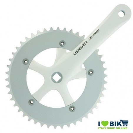 45 545 65WK guarnitura urban bianca per bici single speed fixed shop ricambi bici