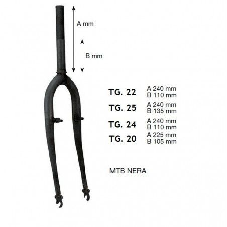 Fork MTB 26 black sleeve u 25.4 mm