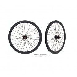 Wheelset Black Fixed - profile 43 mm