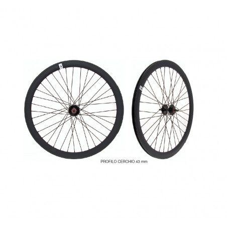 RFIXEDN coppia ruote fixed per bici scatto fisso single speed nere
