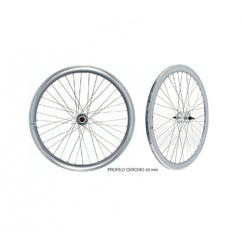 ruote fixed per bici scatto fisso single speed silver a specchio