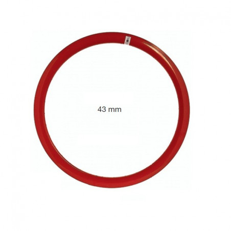 Circle in red allumnio Fixed 36 holes - 43 mm profile