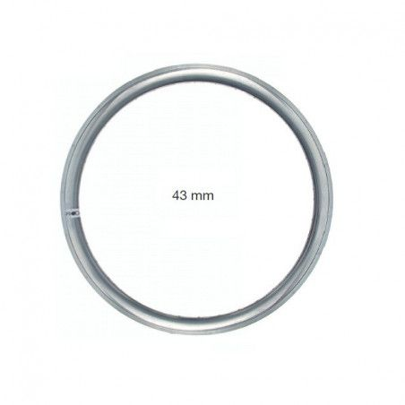 Circle in allumnio Fixed 36 holes silver - profile 43 mm