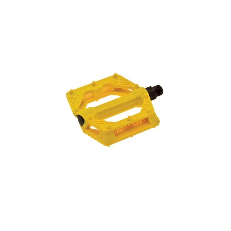 Couple of pedals Fixed / Bmx plastic pin with large 9/16? Yellow,  - 1